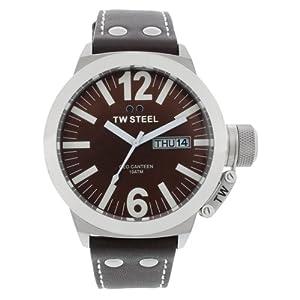 TW Steel CEO TWCE1009 - Reloj unisex de cuarzo, correa de piel color marrón