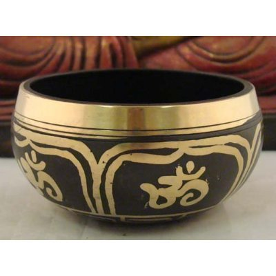 Gorgeous Tibetan Meditation Yoga OM Peace Singing Bowl With Mallet
