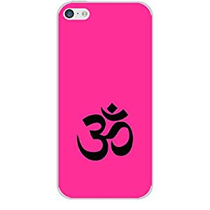 """Skin4gadgets Hinduism Symbol """"OM"""" on English Pastel Color-Bubble Gum Phone Skin for IPHONE 5C"""