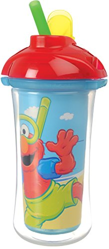 Munchkin Sesame Street Click Lock Insulated Straw Cup, 9 Ounce, Designs May Vary