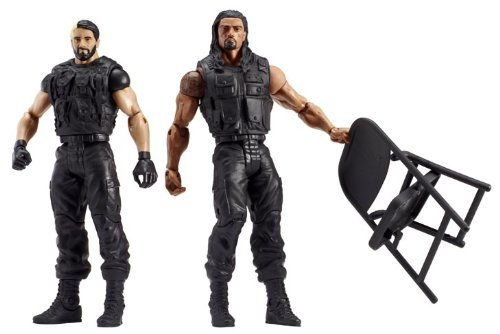 WWE Battle Pack Series #24 Reigns and Rollins Action Figure, 2-Pack by Mattel
