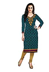 AMP IMPEX Ethnicwear Women's Unstitched Kurti Fabric Black Free Size
