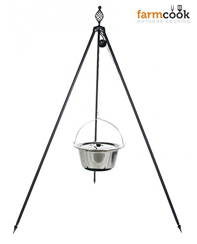 Dreibein Grill OSKAR Höhe 210cm + Kessel 8 Liter aus Edelstahl günstig bestellen