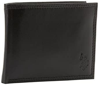 U.S. Polo Assn. Men's Nappa Pony Passcase, Black, One Size