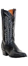 Dan Post Men\'s Raleigh Lizard Western Boot Medium Toe Black 8.5 D(M) US
