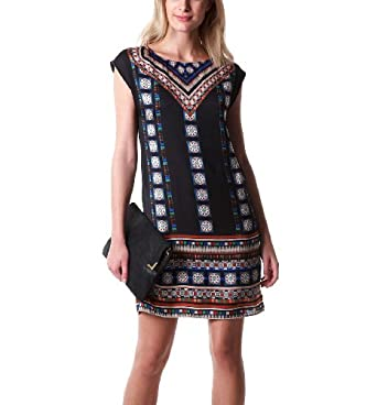 promod robe femme ethnique multicolore 42. Black Bedroom Furniture Sets. Home Design Ideas
