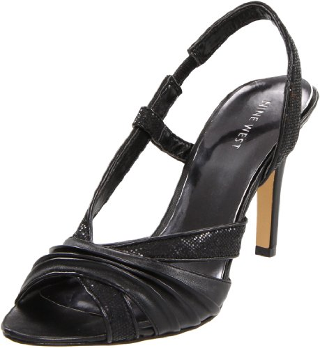 Nine West Women's Choral Sandal,Black Fabric,8.5 M US