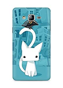 Amez designer printed 3d premium high quality back case cover for Samsung Galaxy ON5 (Cat n Crow)