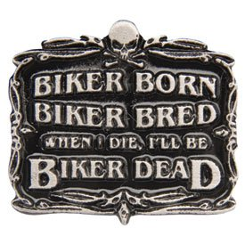 Hot Leathers Biker Born Pin