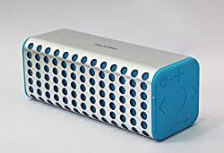 Finch Blue -Premium Aluminium Case Portable Wireless Bluetooth Speakers 10 Watts with AUX and MicroSD-Silver Blue