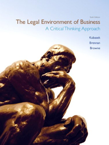 The Legal Environment of Business (6th Edition)...