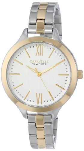 Caravelle 45L139 Men's New York Silver-White Dial Two Tone Steel Bracelet Watch