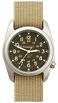 Bertucci A-2T Vintage Titanium Watch with Kaki Nylon Strap 12046