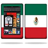 "Protective Vinyl Skin Decal Cover for Amazon Kindle Fire 7"" inch Tablet sticker skins Mexican Flag"