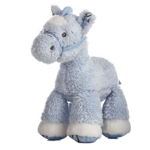 Lil Howdy Plush Pony Rattle Blue