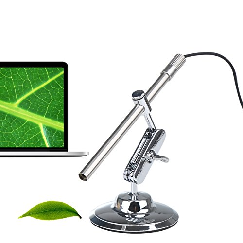 Digital Portable Android USB Microscope Otoscope Endoscope Inspection Camera with 10-200X Magnifier for Kids, Student, Household, Support Mac Windows PC Android