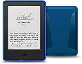 Kindle for Kids Bundle with the latest Kindle, 2-Year Accident Protection, Blue Kid-Friendly Cover