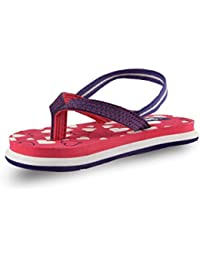 Beanz Little Hearts Pink/Voilet/White EVA Flip Flops For Girls Size 23 EU