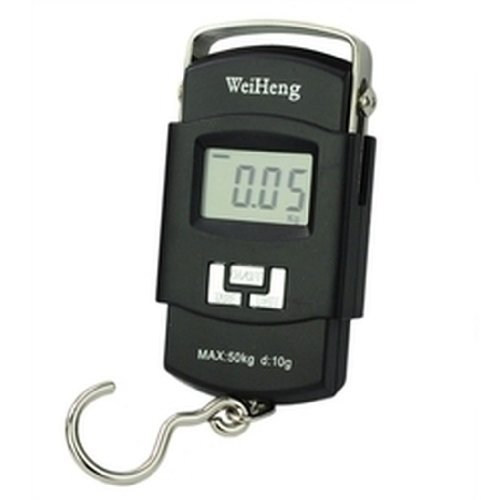 Bulfyss Weighing Scale Digital Heavy Duty Portable, Hook Type with Temp, 50Kg