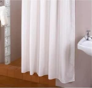 FABRIC SHOWER CURTAIN 150 X 200 CM EXTRA WIDE SHOWER CURTAIN RINGS INCLUDES 1