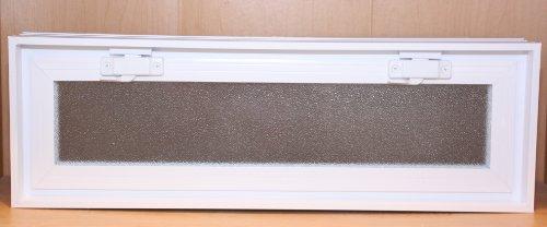 Quality Glass Block 24 x 8 x 3 White Glass Block Vents (Block Window Vent compare prices)