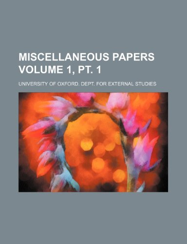 Miscellaneous papers Volume 1, pt. 1