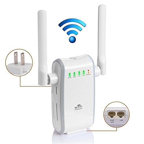 ROFISA 300Mbps Wireless Wifi Router, Long Range Signal Amplifier Extender Booster with Dual Extenal Rotation Antenna Complies IEEE802.11n/g/b with WPS Muti-Functional Mini Repeater/Router/AP Mode (Wi Fi Extender Long Range compare prices)