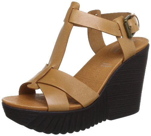 Rockport KINSLEY T STRAP WARM OAK Sandals Womens Brown Braun (WARM OAK) Size: 4 (37 EU)