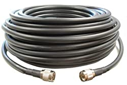 75 feet of LMR400 Ultra Low Loss Coax Cable *Black Color* with N Male Ends
