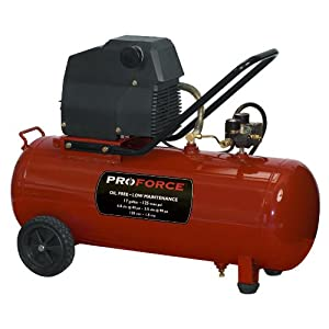 Pro-Force VPF1581719 17-Gallon Oil Free Air Compressor with Kit