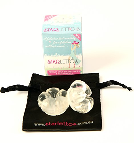 Starlettos High Heel Protectors – Stops Your Heels Sinking at Weddings and Outdoor Events – Free Satin Carry Pouch – Confidence from the Ground Up