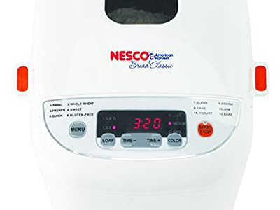 Nesco BDM-110 12-Program Automatic Bread Maker, White from Nesco