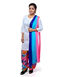 Saffron Readtmade Cotton Salwar Suit Set With Patiala Bottom