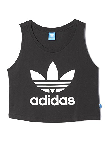 Adidas-Canotta donna Loose Crop, Donna, Loose Crop, nero, 40