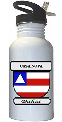 casa-nova-bahia-city-white-stainless-steel-water-bottle-straw-top