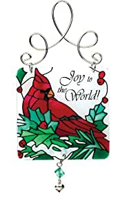 Joan Baker Designs JSW023 Winter Song Mini Art Glass Suncatcher, 3 by 6.25-Inch