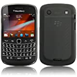 BLACKBERRY BOLD 9900 HARD RUBBERISED HYBRID BACK COVER CASE - BLACK PART OF THE QUBITS ACCESSORIES RANGEby Qubits