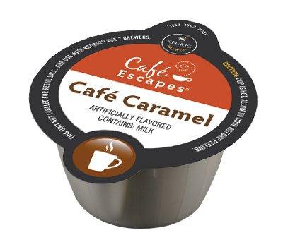 16 Count - Cafe Escapes Cafe Caramel Vue Pack For Keurig Vue Brewers, (16-0.51 Oz, Net Wt: 8.2 Oz)