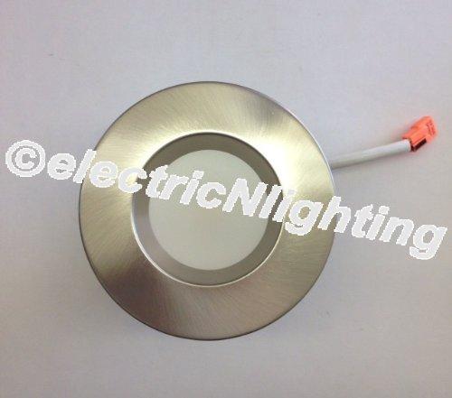 Led 4 Inch 10 Watt Retrofit Luminaires Recessed Light Trim Kit Satin Nickel