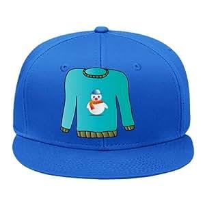Amazon.com: Fashion Adjustable Blue Cotton Hip Hop Cap Snapback