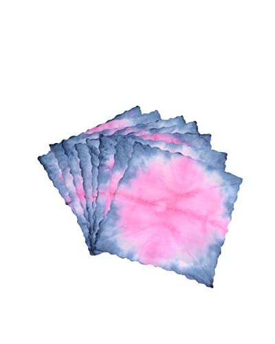 Uptown Down Set of 8 One-of-a-Kind Hand-Dyed Napkins