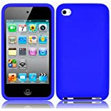 XYLO Accessory Bundle: Blue SuperTUFF Silicone Skin Case Cover, Xylo ClearICE LCD Screen Protector and In Car Charger for the Apple iPod Touch 4 4G (8GB 16GB 32GB 64GB)
