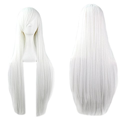 Long straight white wig 32
