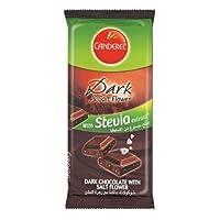 Canderel SugarFree Chocolate Diet 0% sugar 85g (Dark & Salt Flower With Stevia Extracts)