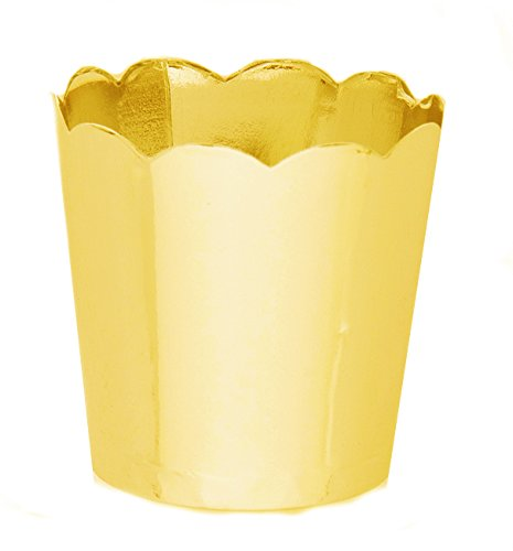 Simply Baked Petite Paper Baking Cup, Metallic Gold, 200-Pack, Entertain with Ease and Style, Serve Cupcakes, Ice cream, Appetizers and More (Mac And Cheese Single Servings compare prices)