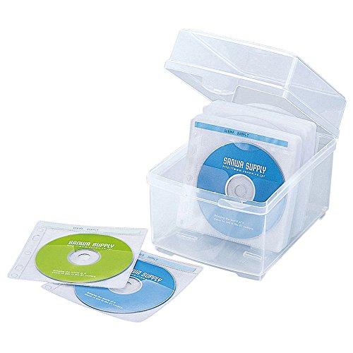 サンワサプライ 2枚収納×50セット 不織布ケース付き DVD CDケースFCD-FBOX100N