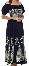 Sakkas Batik Fleur De Lis Embroidered…