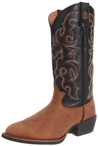 Tony Lama Boots Men's RR4001 Boot,Walnut Brindle/Black Baron Calf,9 EE US
