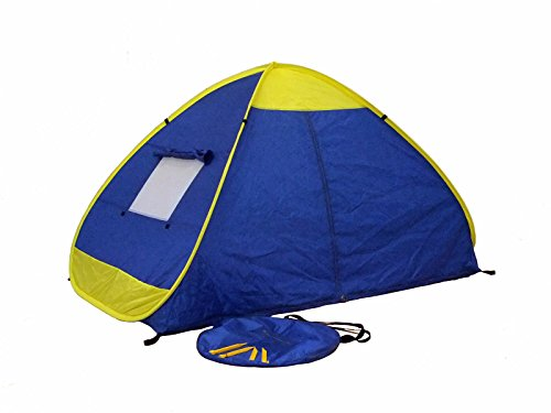 Genji Sports Instant Outdoor and Beach Tent, One Size, Blue/Yellow Trims