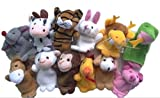しあわせ倉庫 パペット 劇場 指人形 セット 知育 玩具 フィンガー 布製 ぬいぐるみ (十二支)